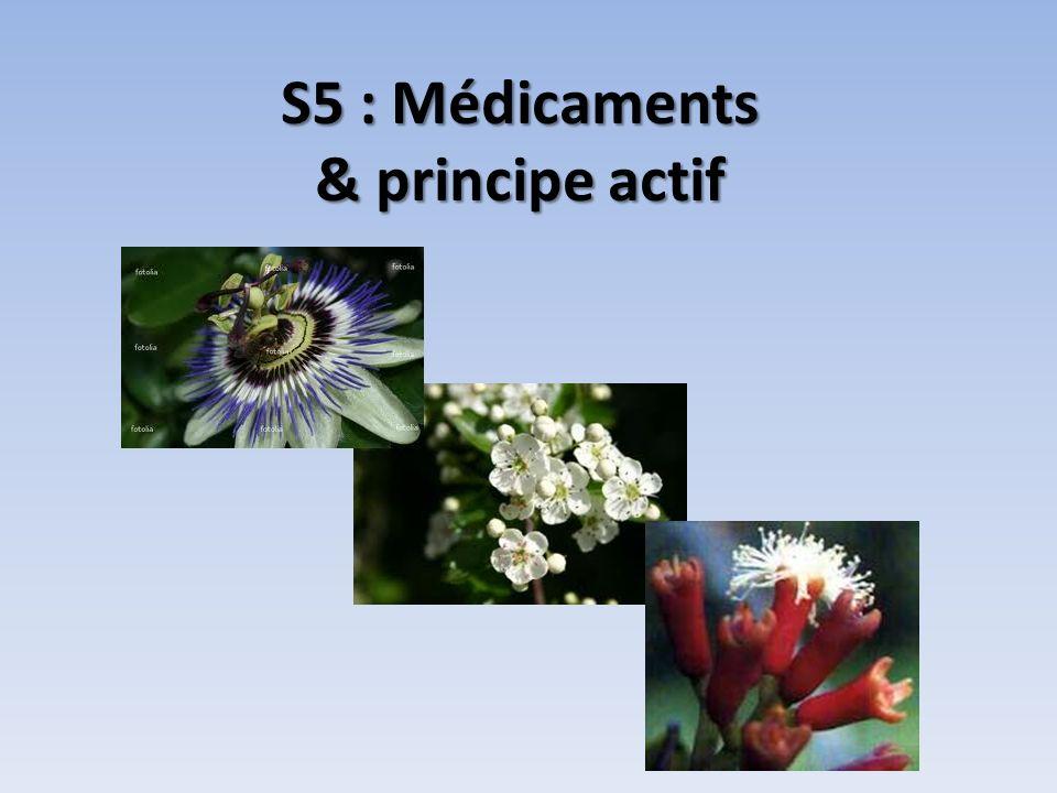 S5 : Médicaments & principe actif