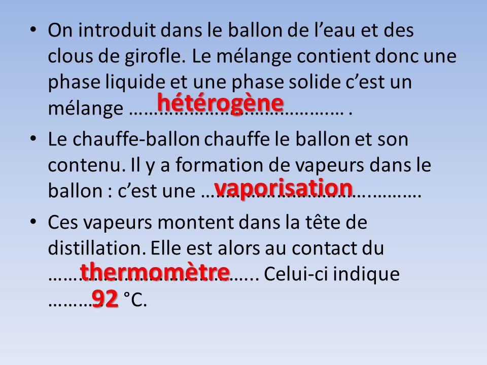 hétérogène vaporisation thermomètre 92