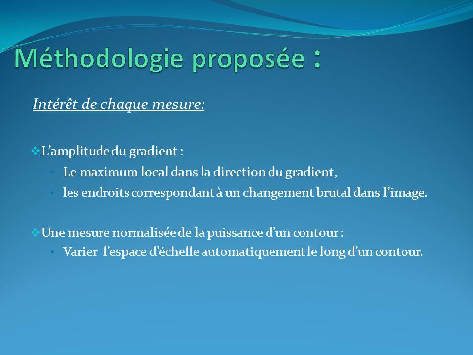 Méthodologie proposée :