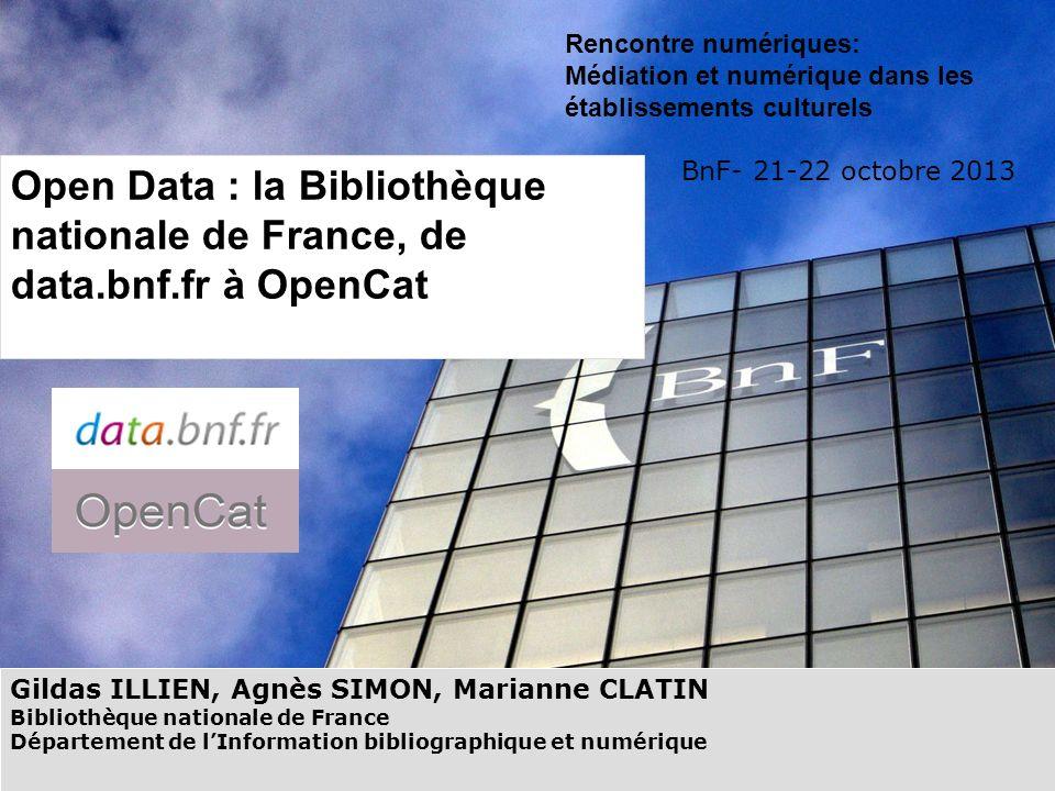 1 Rencontre numériques: Médiation et numérique dans les établissements culturels. BnF- 21-22 octobre 2013.