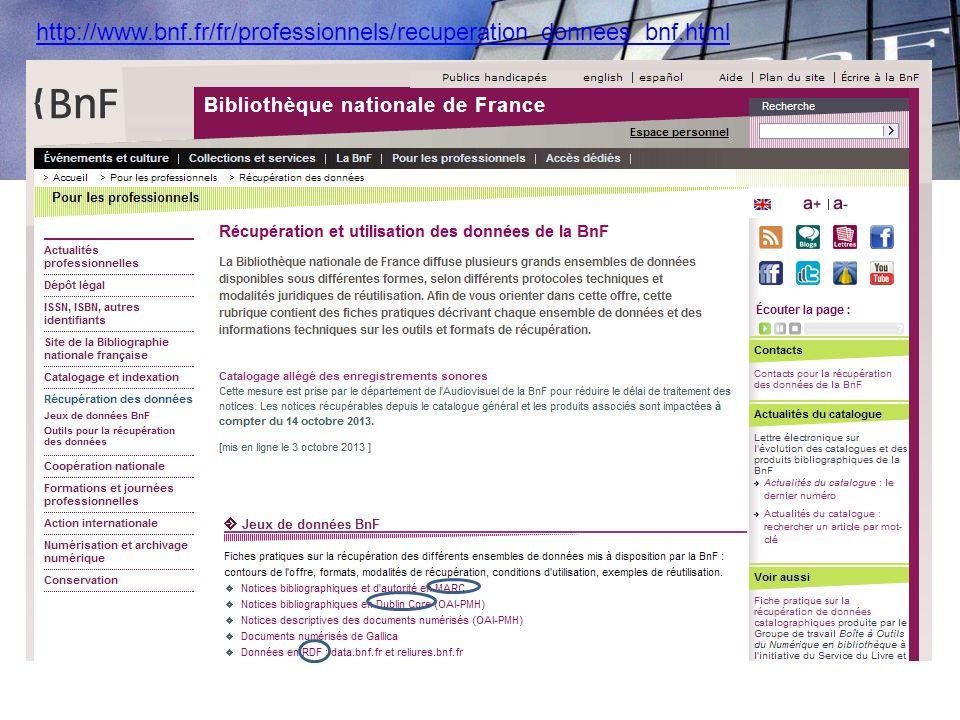 CE page bnf sur récupération