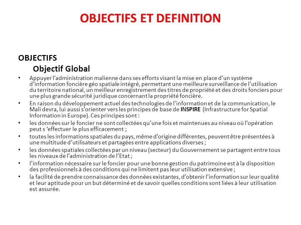 OBJECTIFS ET DEFINITION