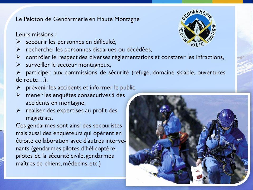 Le Peloton de Gendarmerie en Haute Montagne
