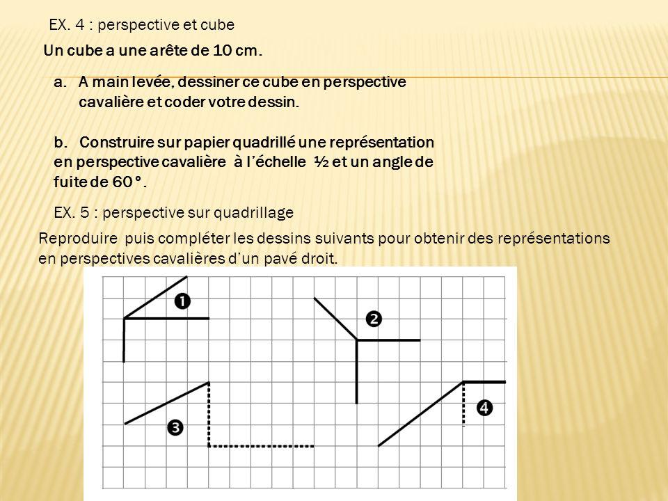 EX. 4 : perspective et cube