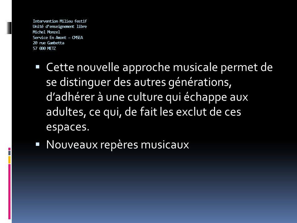 Nouveaux repères musicaux