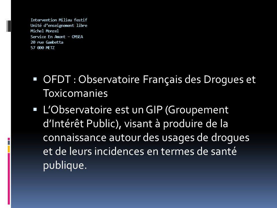 OFDT : Observatoire Français des Drogues et Toxicomanies
