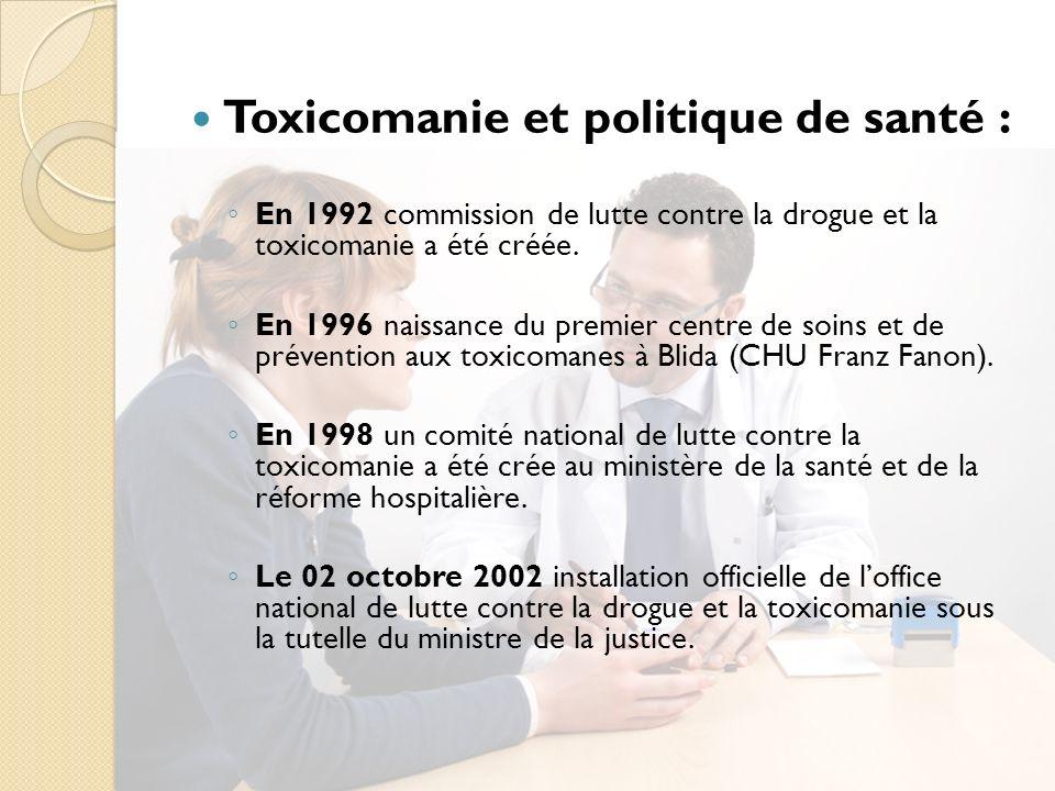 Toxicomanie et politique de santé :