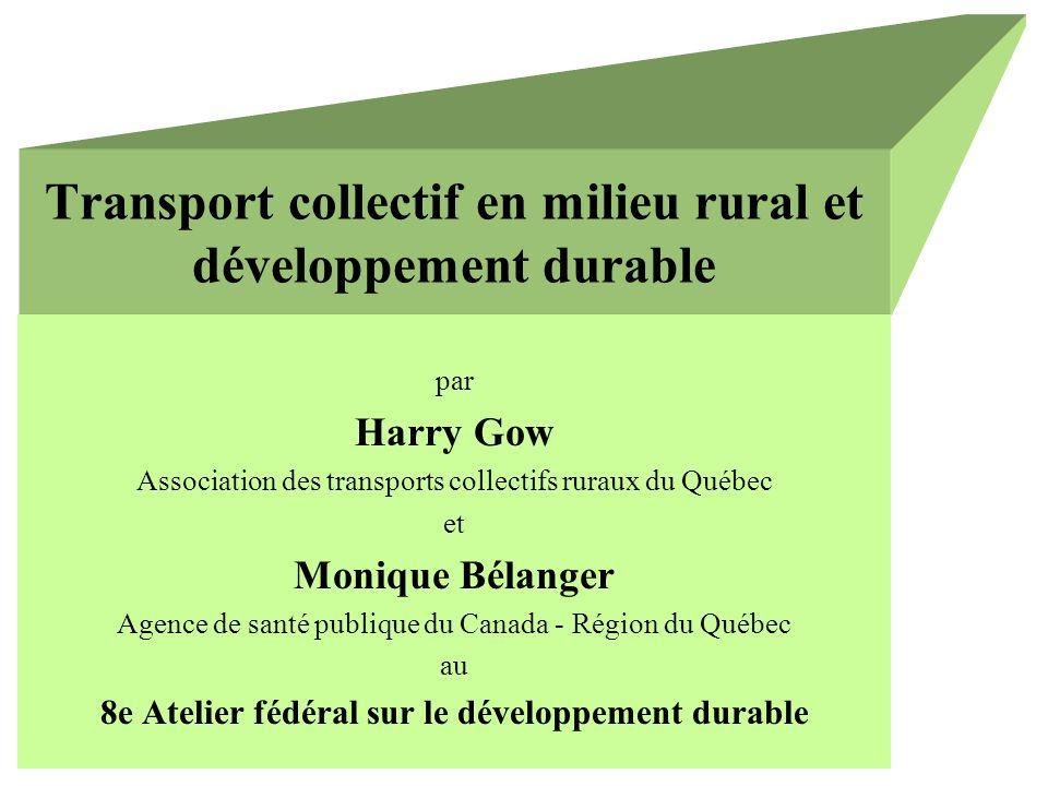 Transport collectif en milieu rural et développement durable