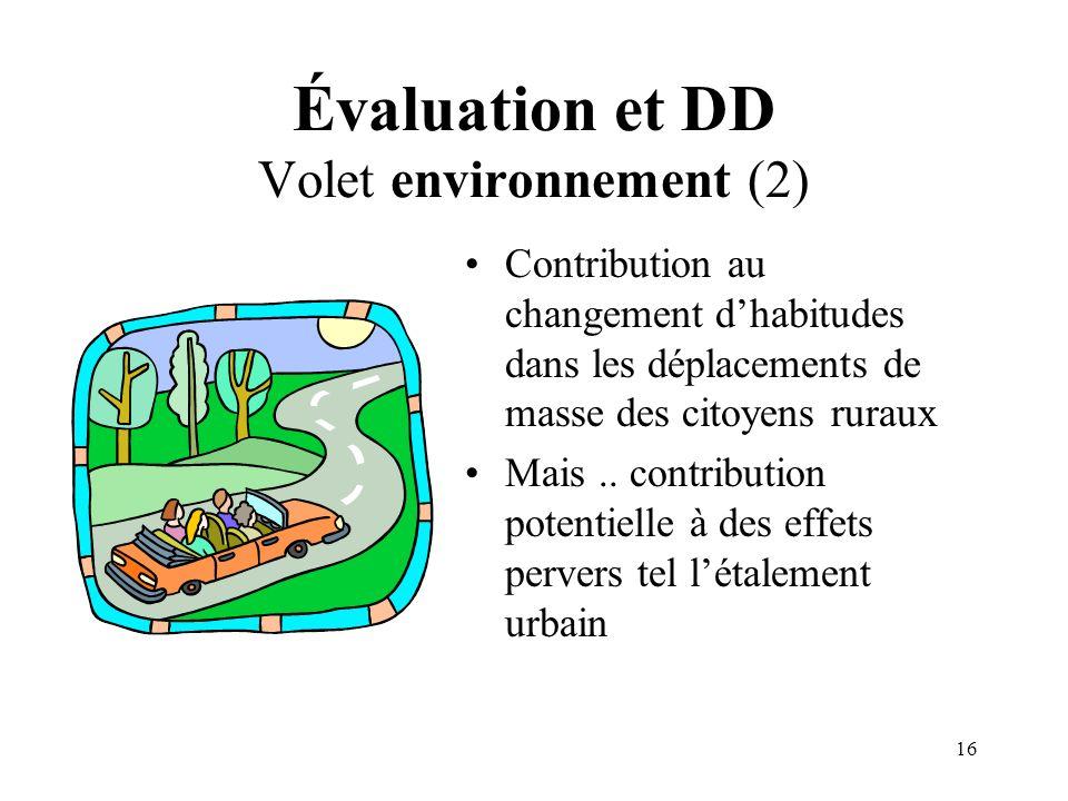 Évaluation et DD Volet environnement (2)