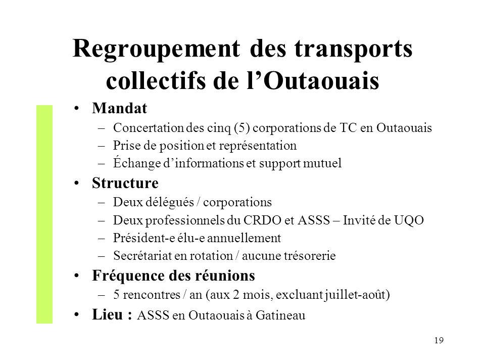 Regroupement des transports collectifs de l'Outaouais