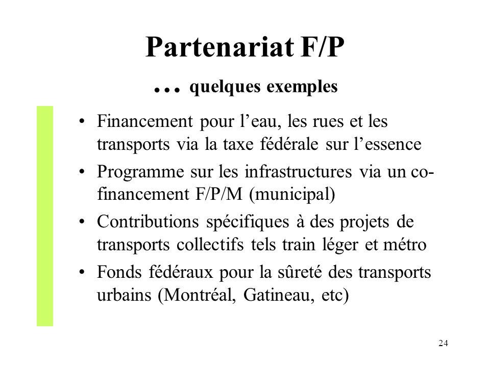Partenariat F/P … quelques exemples