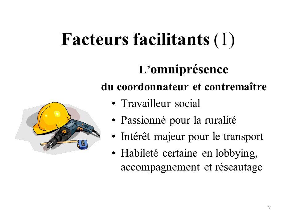 Facteurs facilitants (1)