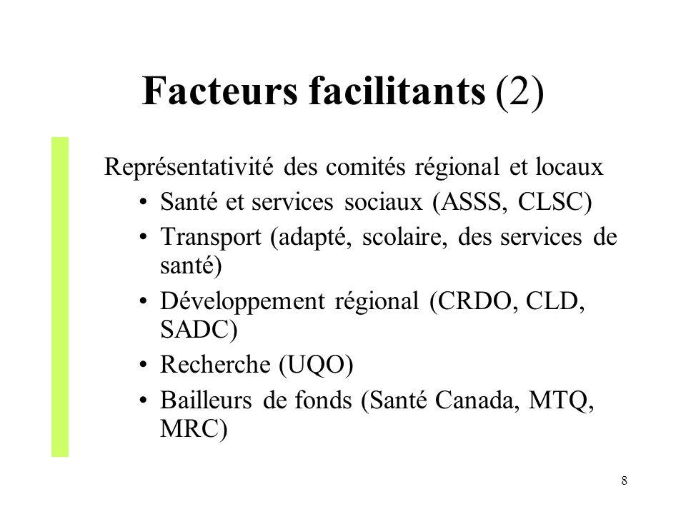 Facteurs facilitants (2)