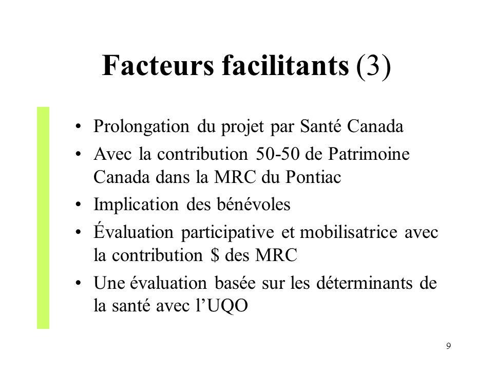 Facteurs facilitants (3)