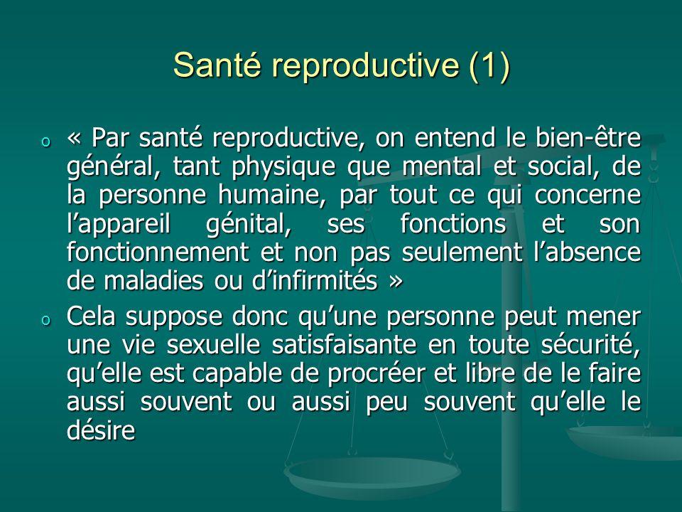 Santé reproductive (1)