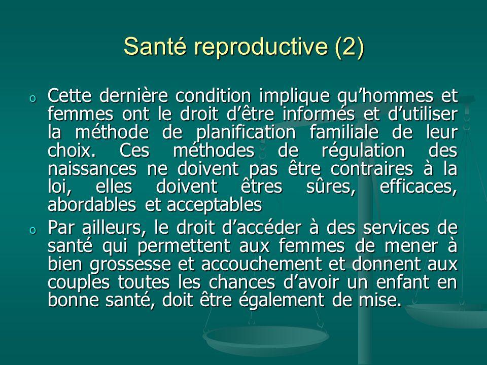 Santé reproductive (2)