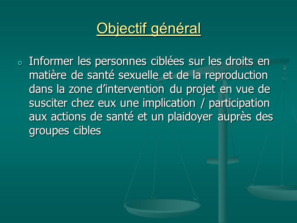 Objectif général