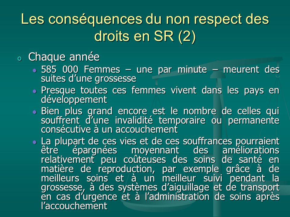 Les conséquences du non respect des droits en SR (2)