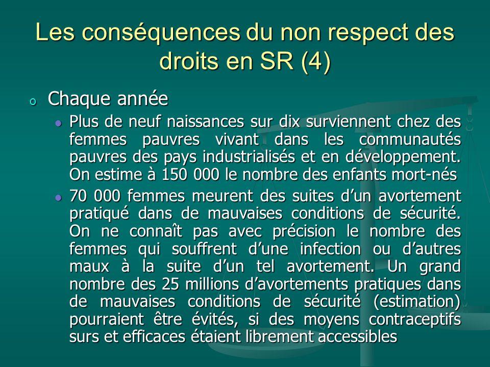 Les conséquences du non respect des droits en SR (4)