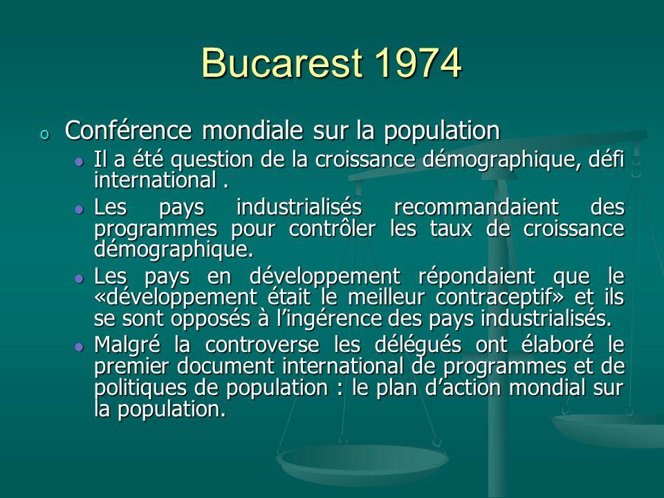 Bucarest 1974 Conférence mondiale sur la population