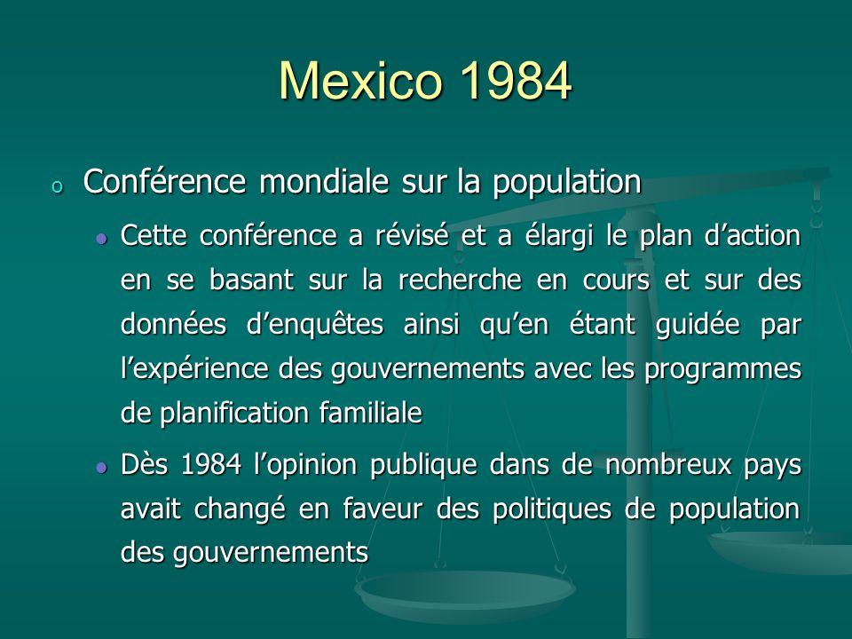 Mexico 1984 Conférence mondiale sur la population