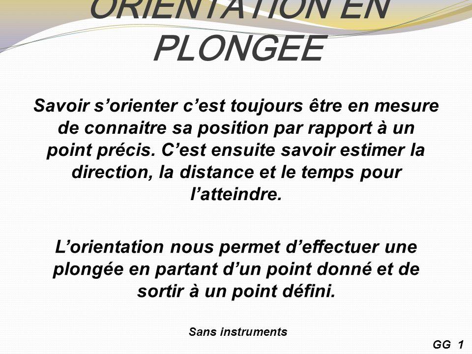 ORIENTATION EN PLONGEE