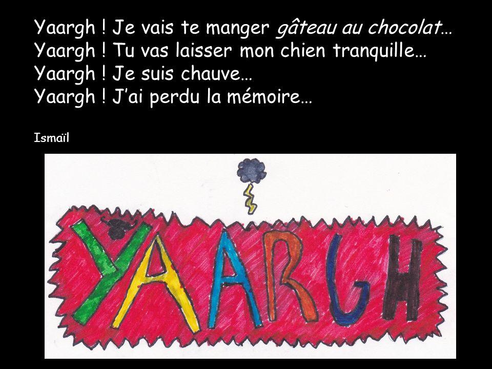 Yaargh. Je vais te manger gâteau au chocolat… Yaargh