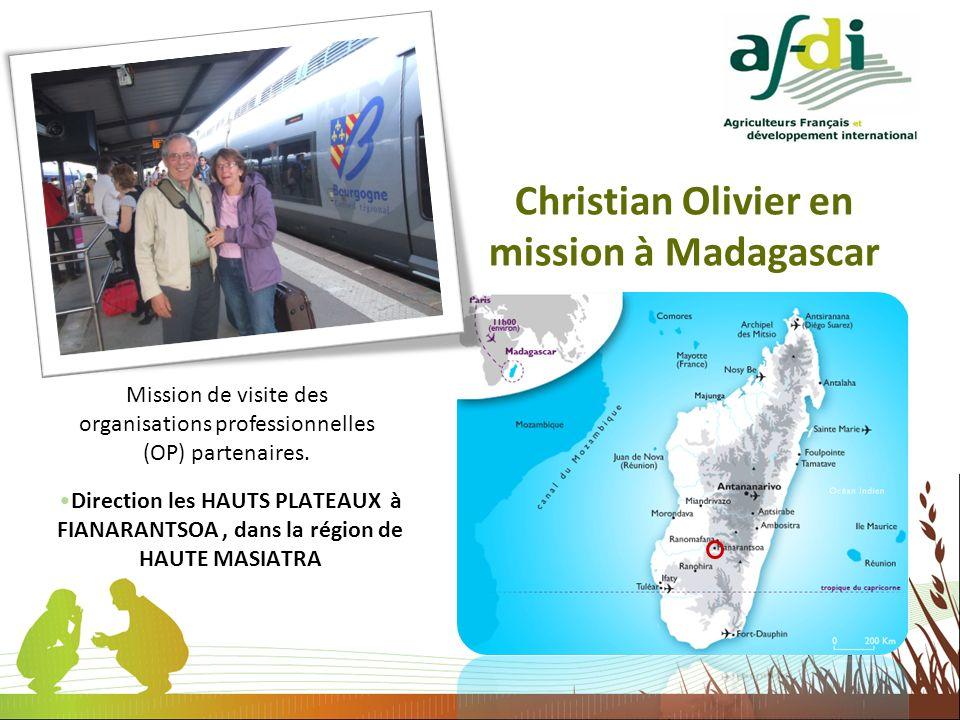 Christian Olivier en mission à Madagascar