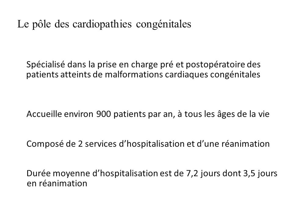 Le pôle des cardiopathies congénitales
