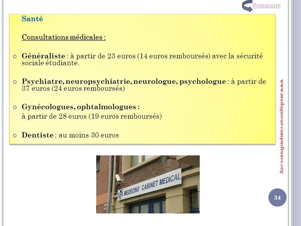 Consultations médicales :