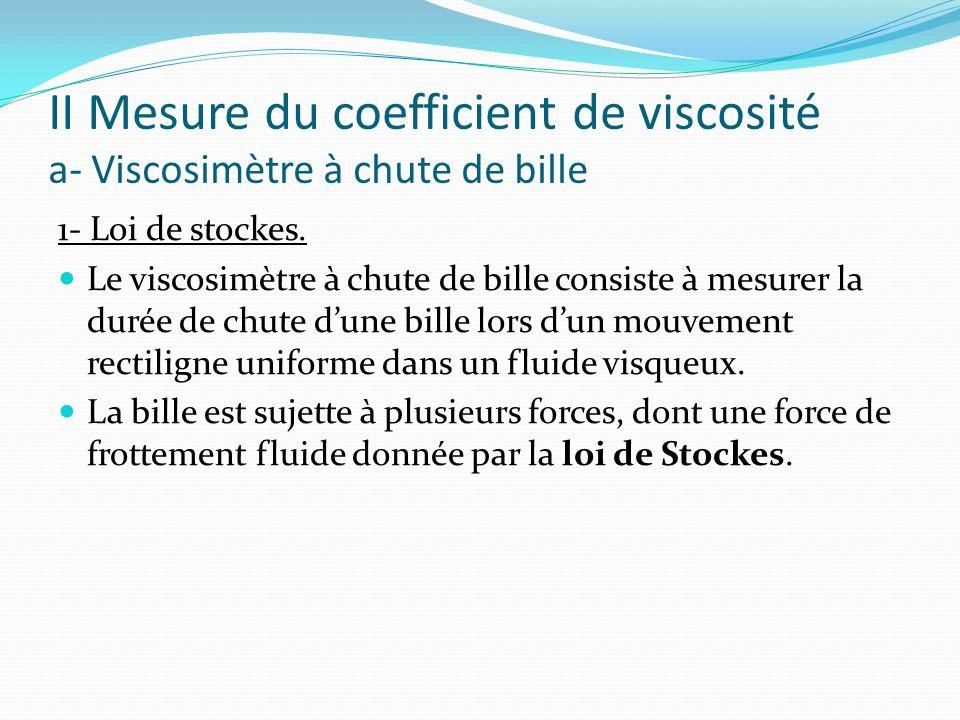 II Mesure du coefficient de viscosité a- Viscosimètre à chute de bille