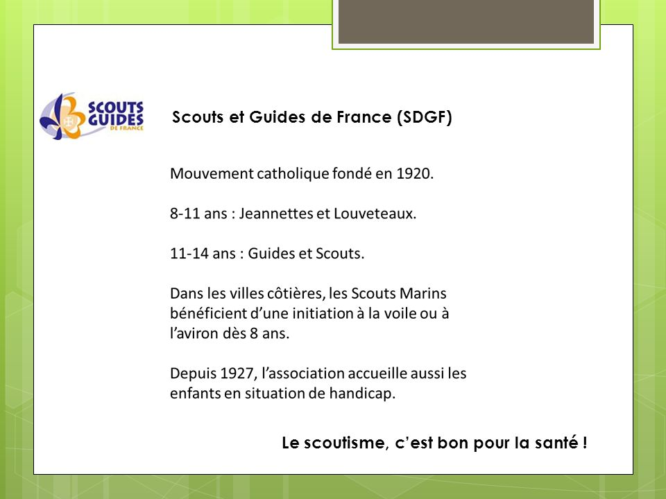 Scouts et Guides de France (SDGF)