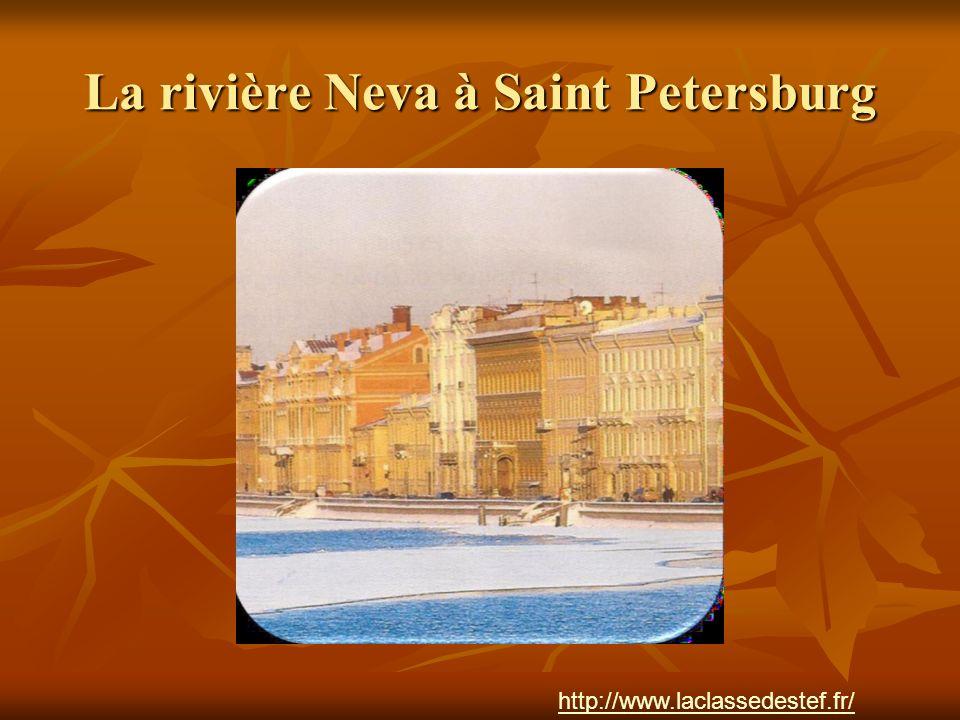 La rivière Neva à Saint Petersburg