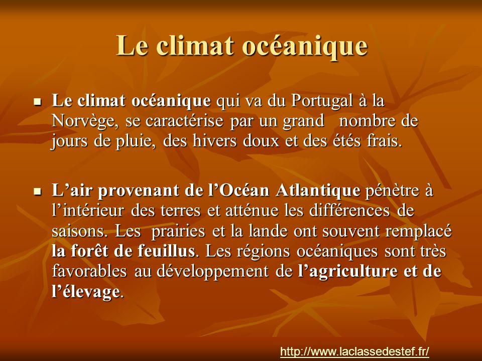 Le climat océanique