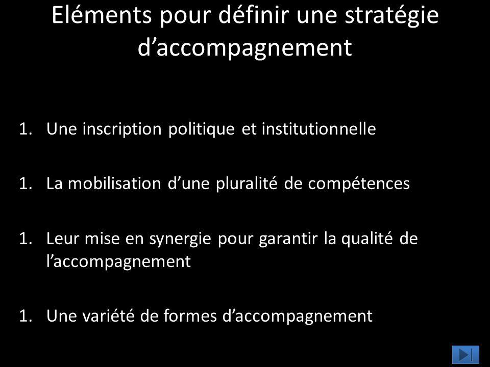 Eléments pour définir une stratégie d'accompagnement