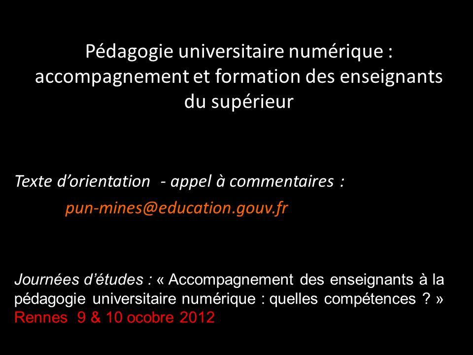 Pédagogie universitaire numérique : accompagnement et formation des enseignants du supérieur