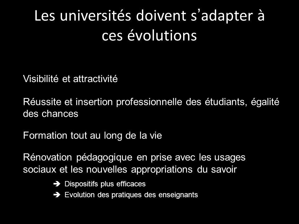 Les universités doivent s'adapter à ces évolutions
