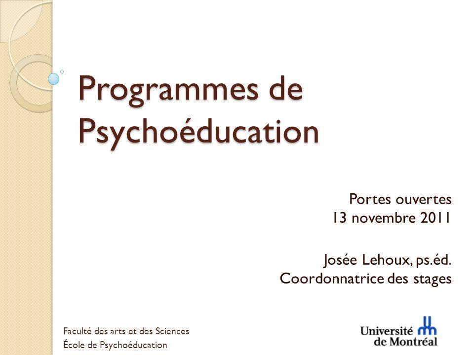 Programmes de Psychoéducation