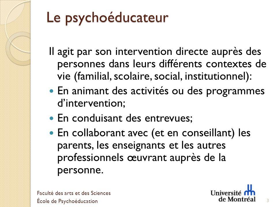 Le psychoéducateur