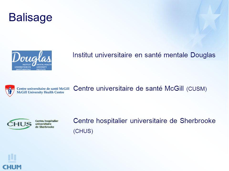 Balisage Centre universitaire de santé McGill (CUSM)