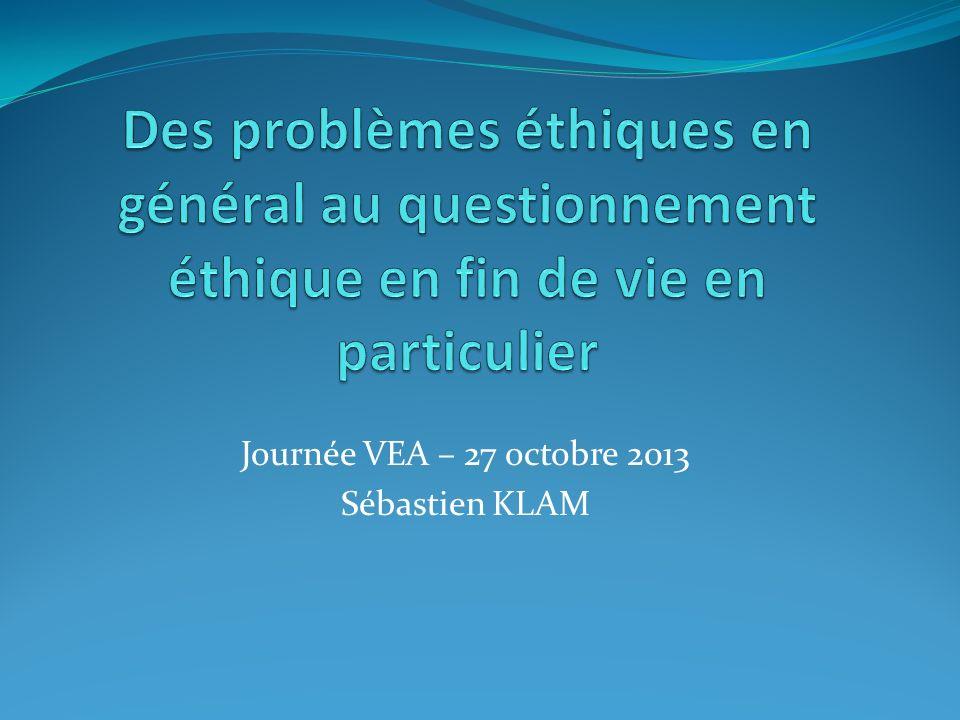 Journée VEA – 27 octobre 2013 Sébastien KLAM