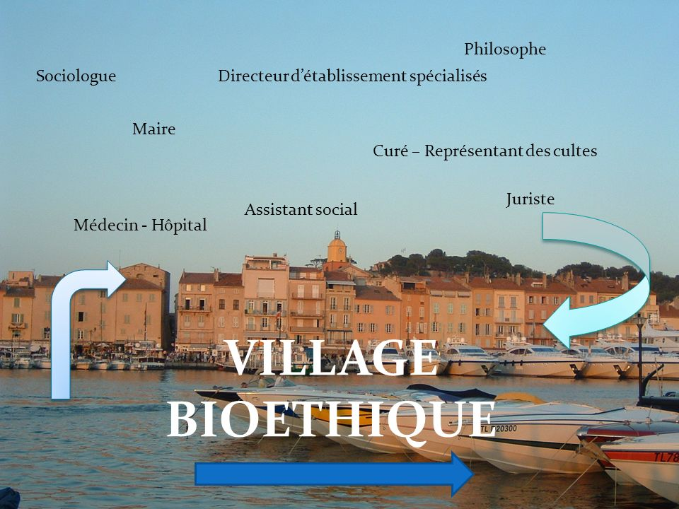 VILLAGE BIOETHIQUE Philosophe Sociologue