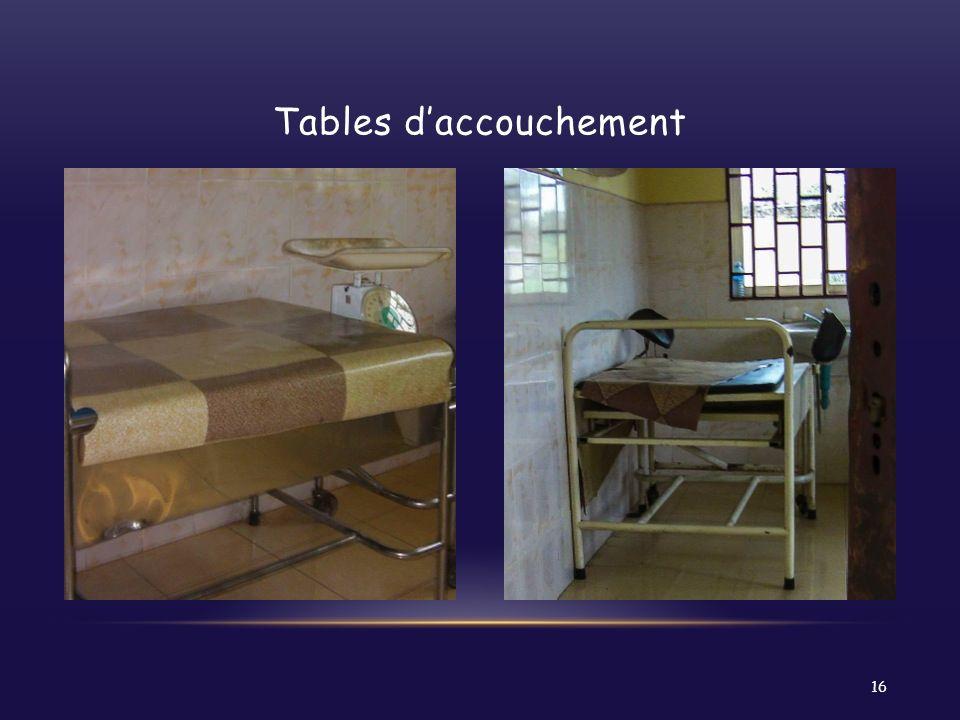 Tables d'accouchement