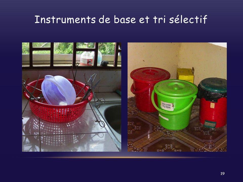Instruments de base et tri sélectif