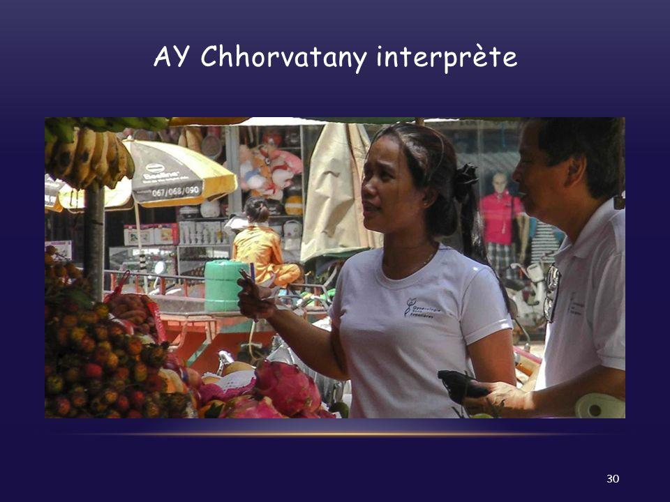 AY Chhorvatany interprète