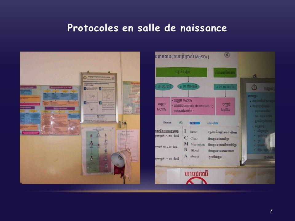 Protocoles en salle de naissance