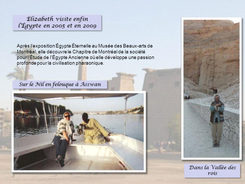 Elizabeth visite enfin l'Égypte en 2005 et en 2009