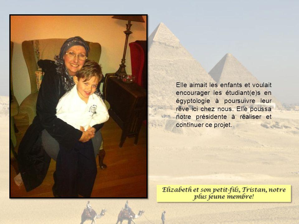 Elizabeth et son petit-fils, Tristan, notre plus jeune membre!