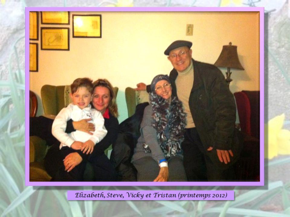 Elizabeth, Steve, Vicky et Tristan (printemps 2012)