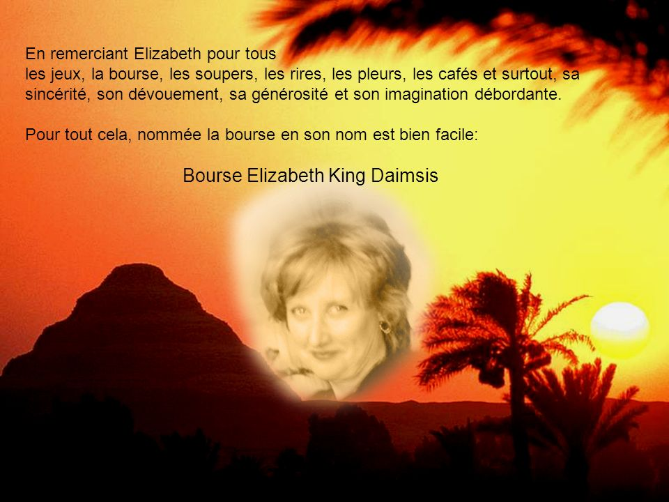 Bourse Elizabeth King Daimsis